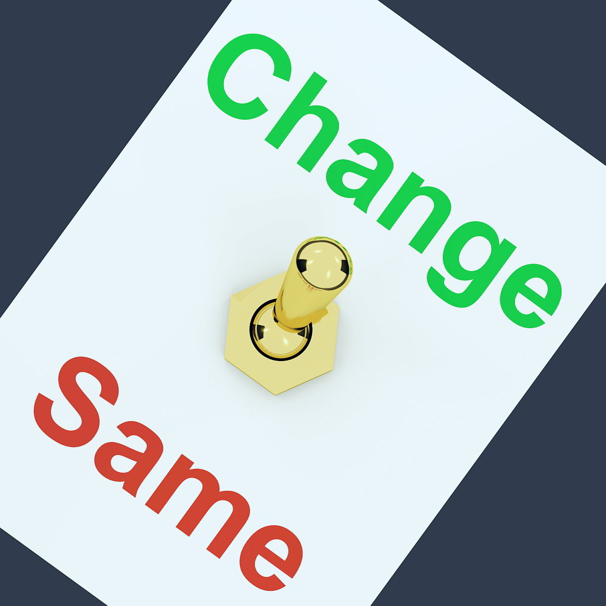 switch between change and same